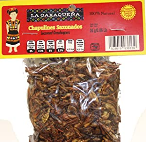 Chapulines Sazonados from Oaxaca 30 grms - Seasoned Grasshoppers