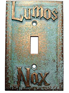 Lumos/Nox Light Switch Cover (Custom) (Aged Patina)