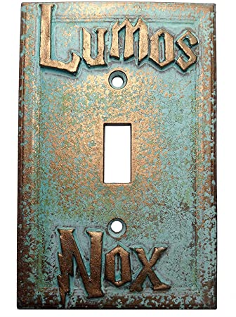Amazoncom Lumosnox Light Switch Cover Custom Aged Patina