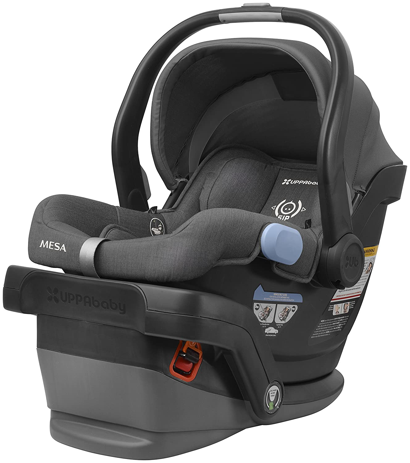 2018 UPPAbaby MESA Infant Car Seat -Jordan (Charcoal Melange) Merino Wool Version/Naturally Fire Retardant