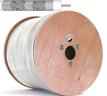 500 m Cobre Puro KU 135 dB apantallado, 5 de cable coaxial ...