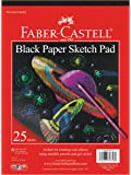 """Faber-Castell Black Paper Pad 9"""" X 12"""" 25 sheets"""