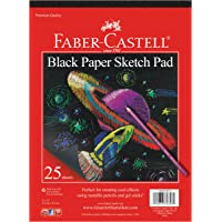 """Faber-Castell Black Paper Pad - 25 Sheets of 9"""" x 12"""" Paper"""