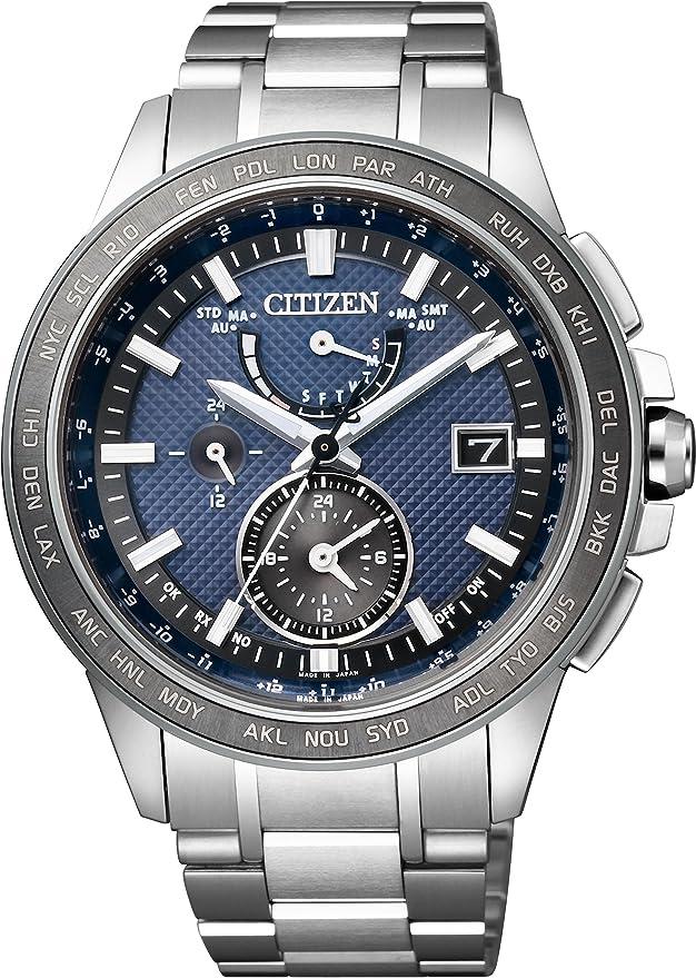[シチズン] 腕時計 アテッサ エコ・ドライブ 電波時計 ダイレクトフライト DLC仕様 AT9024-66L シルバー