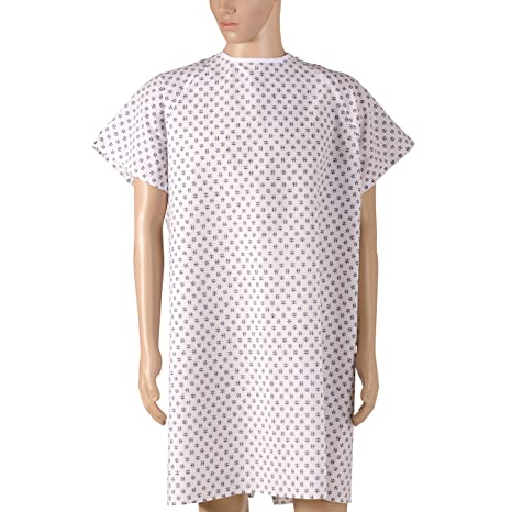 DMI – Hospital de convalecencia albornoz con back Tie, impresión