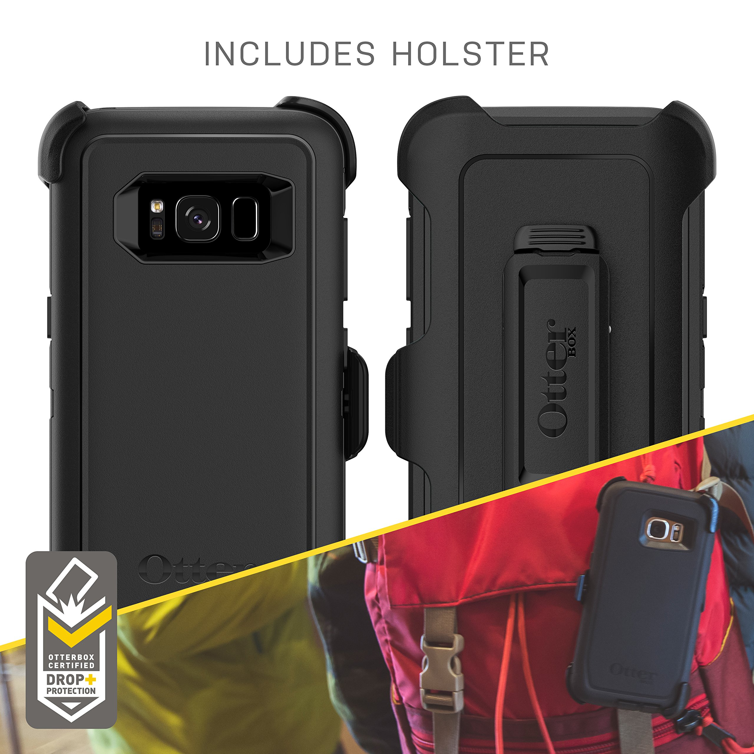 OtterBox Defender Series SCREENLESS Edition for Samsung Galaxy S8+ - Frustration Free Packaging - Black by OtterBox (Image #5)