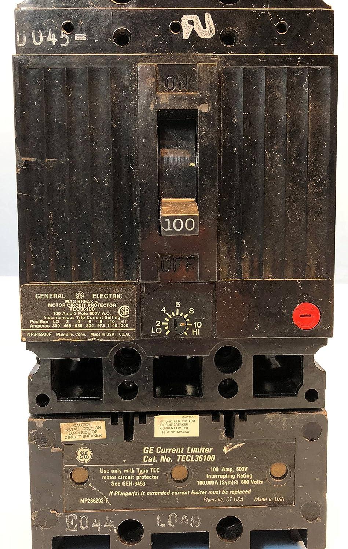 GENERAL ELECTRIC TEC36100 CIRCUIT BREAKER