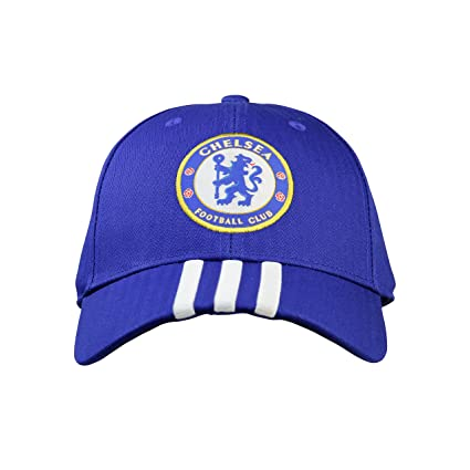 Amazon.com   Adidas Chelsea FC 3-Stripes Cap Soccer Hats - Men (Blue ... 2f492e694cb