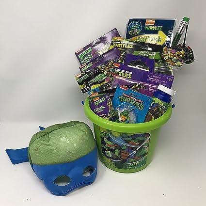 Amazon.com  TEENAGE MUTANT NINJA TURTLES Easter Basket (14 PIECE SET ... 145f3698d5db