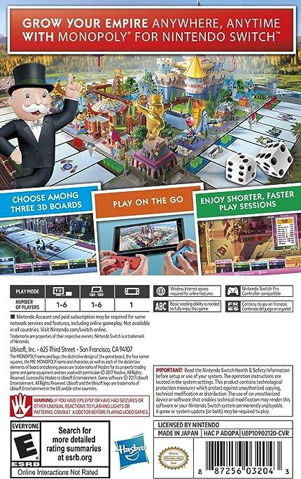 Amazon Monopoly Nintendo Switch Standard Edition Ubisoft
