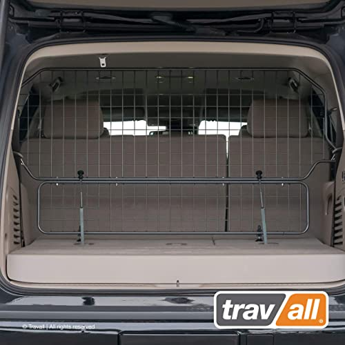 Travall Guard Plus Compatible with Chevrolet Tahoe and Cadillac Escalade Short Wheel Base 2014-Current TDG1579 – Rattle-Free Full Height Steel Pet Barrier