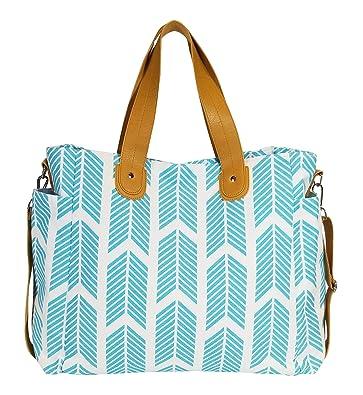 0f3de7aa7274 Amazon.com  Aqua Blue Arrows Weekender Tote Bag  Shoes