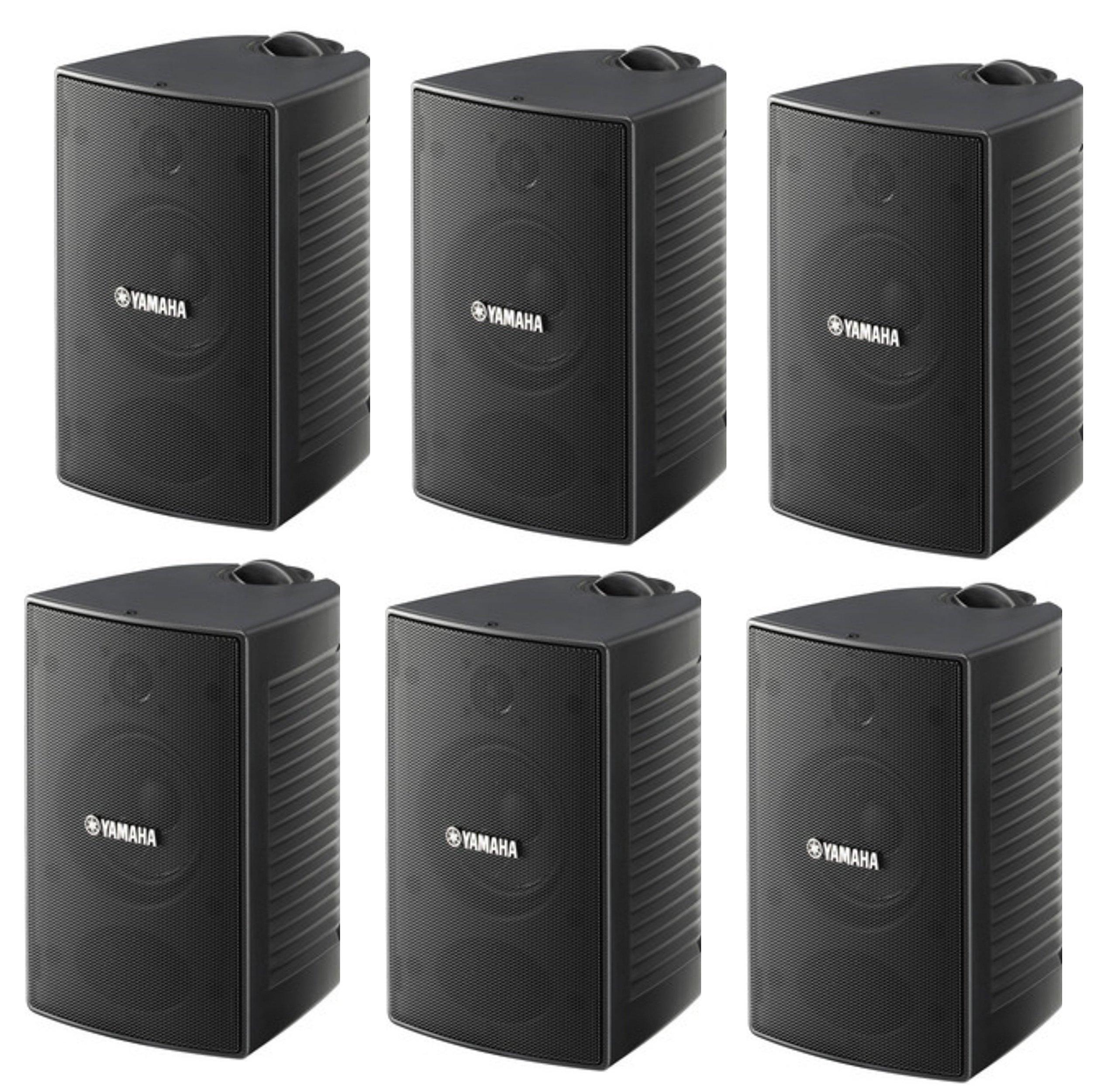 Yamaha High-Performance Natural Surround Sound 2-Way Indoor/Outdoor Weatherproof Home Theater Speakers (Set Of 6)