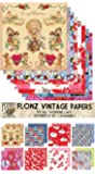"""Paper Pack (24sh 6""""x6"""") Valentine Day FLONZ Vintage Paper for Scrapbooking and Craft"""