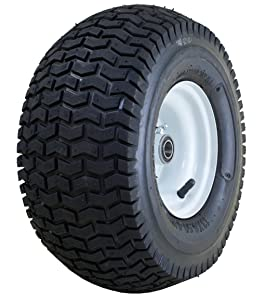 "Marathon 13x6.50-6"" Pneumatic (Air Filled) Tire on Wheel, 3"" Hub, 3/4"" Bearings"
