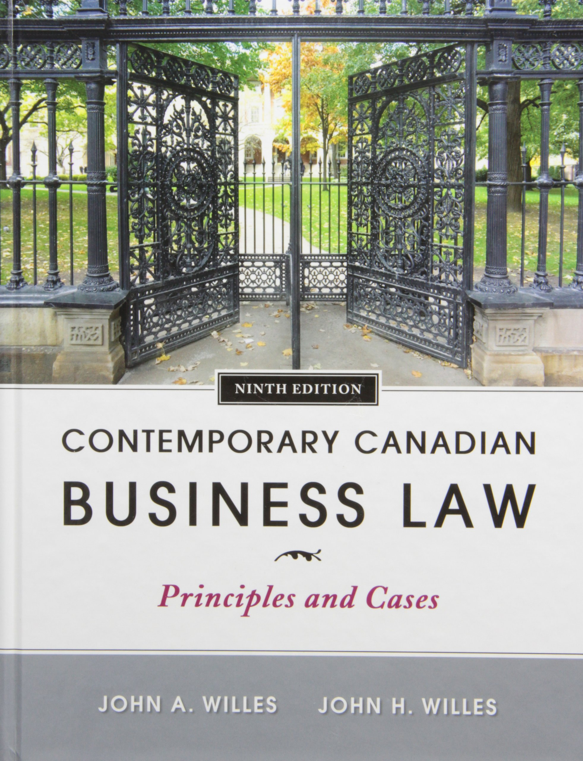 Contemporary Canadian Business Law: John A Willes, John H Willes:  9780070979857: Law: Amazon Canada