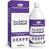 Olio C8 MCT Di Premio | 3X Più Chetone Che Producono C8 Rispetto Agli Oli MCT | Trigliceridi acidi caprilici puri | Paleo, glutine e vegano amichevole | Bottiglia libera BPA | KetoPerformance® (1000ml)
