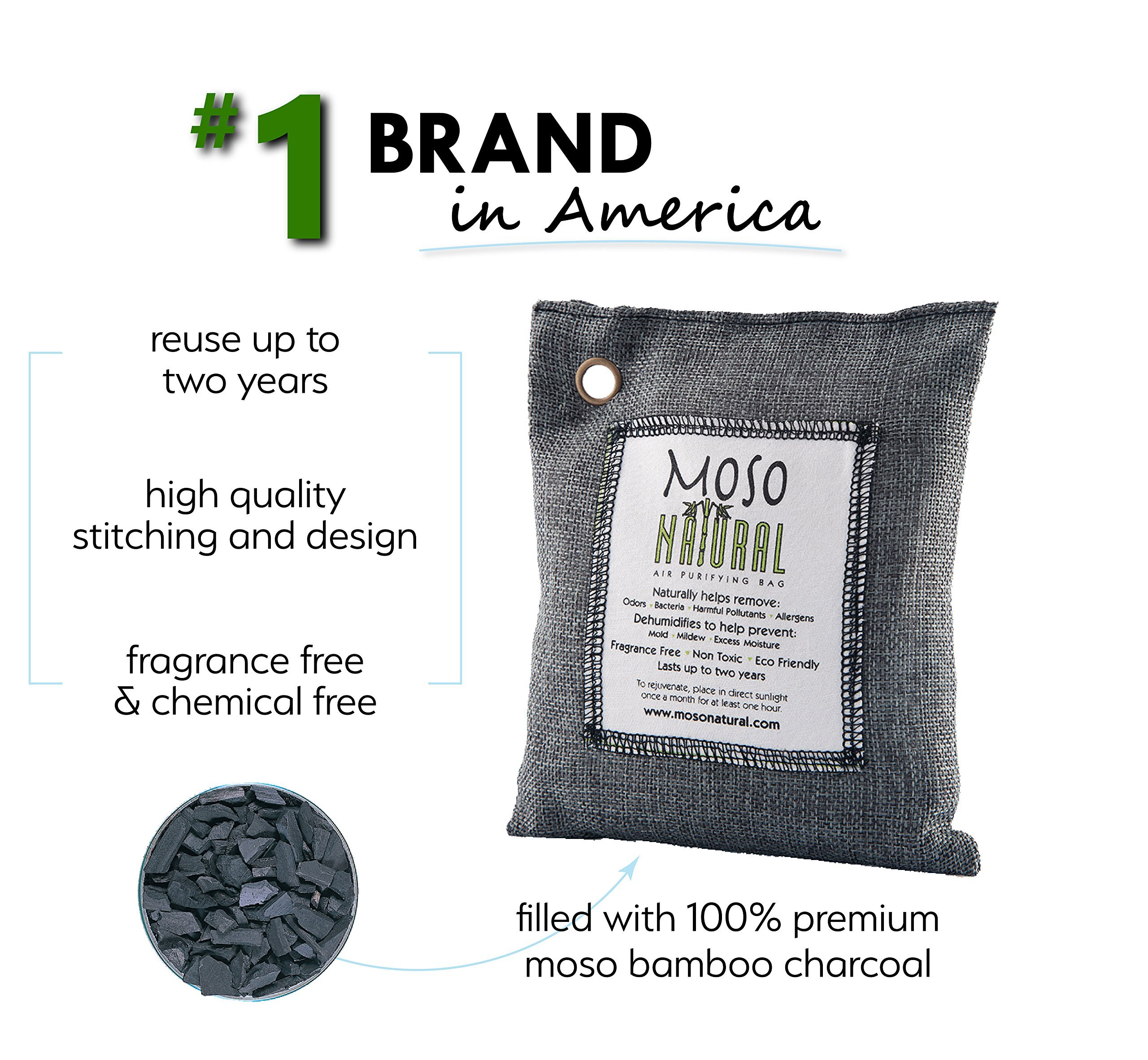Moso Natural Air Purifying Bag Charcoal Color  G