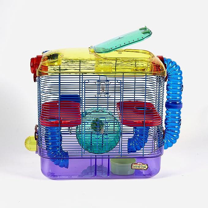 Kaytee CritterTrail-Hábitat de dos pisos para animales pequeños como hámsters, jerbos y ratones, 1 unidad