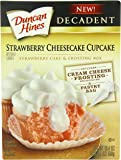 Duncan Hines Decadent Cupcake Mix, Strawberry Cheesecake, 19.4 Ounce (Pack of 8)