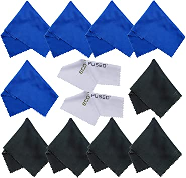 Silverware Distinct Microfiber Cleaning Cloths and Delicate Surfaces 100 Pack Tablets Glasses for Cell Phones Laptops Spectacles