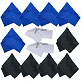 ECO-FUSED® 12 Piece Pack of Microfiber Cleaning Cloths for use with Cell Phone, Tablets, Laptops, Glasses, Lenses and…