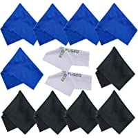 Eco-Fused Microfiber Cleaning Cloths- 12 Pack - Ideal for Cleaning Glasses, Spectacles, Camera Lenses, iPad, Tablets, Phones, iPhone, Android Phones, Laptops, LCD Screens and Other Delicate Surfaces