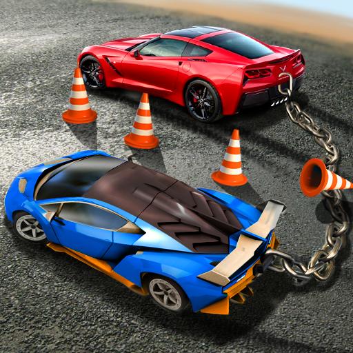 Chained Car Mega Stunts Racing: Super Speed Driving Simulator 2019 (Best Tracks Of 2019)