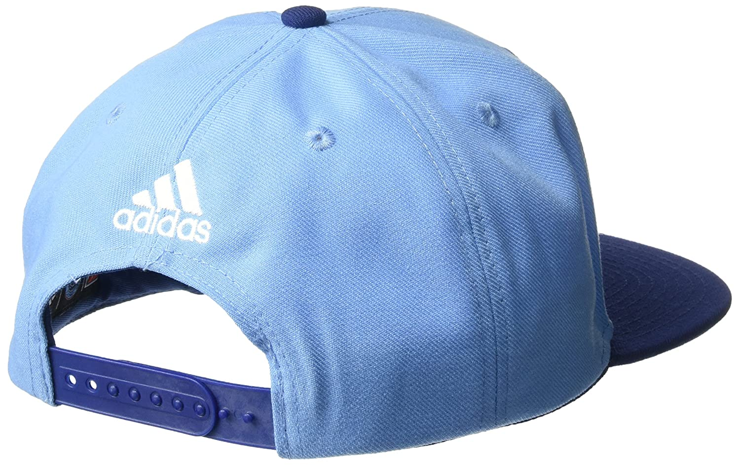 Amazon.com : adidas MLS New York City FC Mens Dassler Flat Brim Snapback Hat, One Size, Blue : Sports & Outdoors