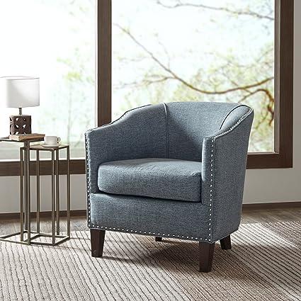 Barrel Arm Chair Fremont/Slate Blue