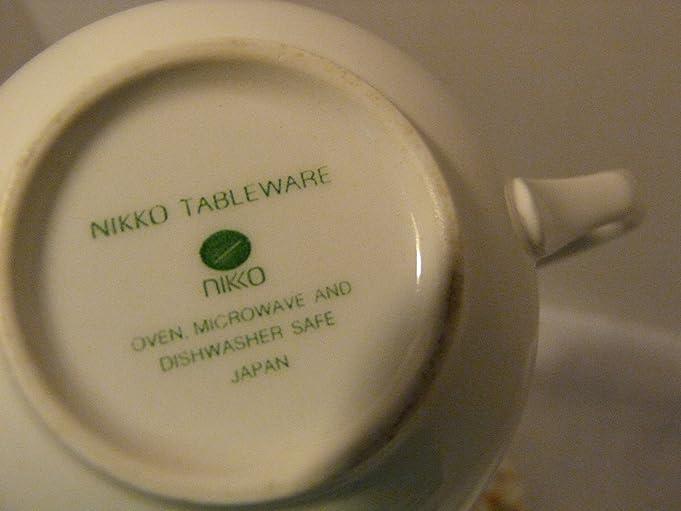 Amazon.com | Nikko Tableware Fine China Cup u0026 Saucer Set of Four (4) in English Garden Pattern Cup u0026 Saucer Sets & Amazon.com | Nikko Tableware Fine China Cup u0026 Saucer Set of Four (4 ...