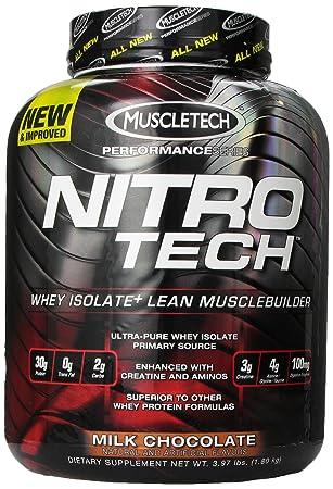 MUSCLETECH NitroTech Protein Powder, Milk Chocolate, 3.97 Pound