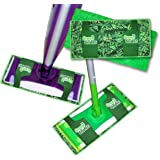 Green Glider Reusable, Washable Mop Pad for Swiffer Wet Jet, Swiffer Sweeper, Libman Freedom Mop, O'cedar ProMist Mop - Thick Layers of Shammy Inside to Absorb, Heavy Duty Microfiber Outside to Clean!