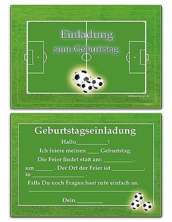 Einladungskarten Kindergeburtstag Fussball Junge Kinder Geburtstag Einladungen Geburtstagseinladungen