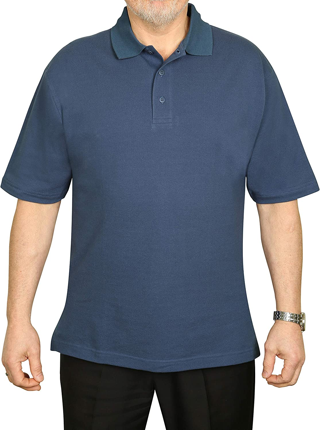 Elita Polo Shirts for Men Loose Fit Short-Sleeve Casual Work Cotton Collared T Shirt Regular /& Tall Sizes