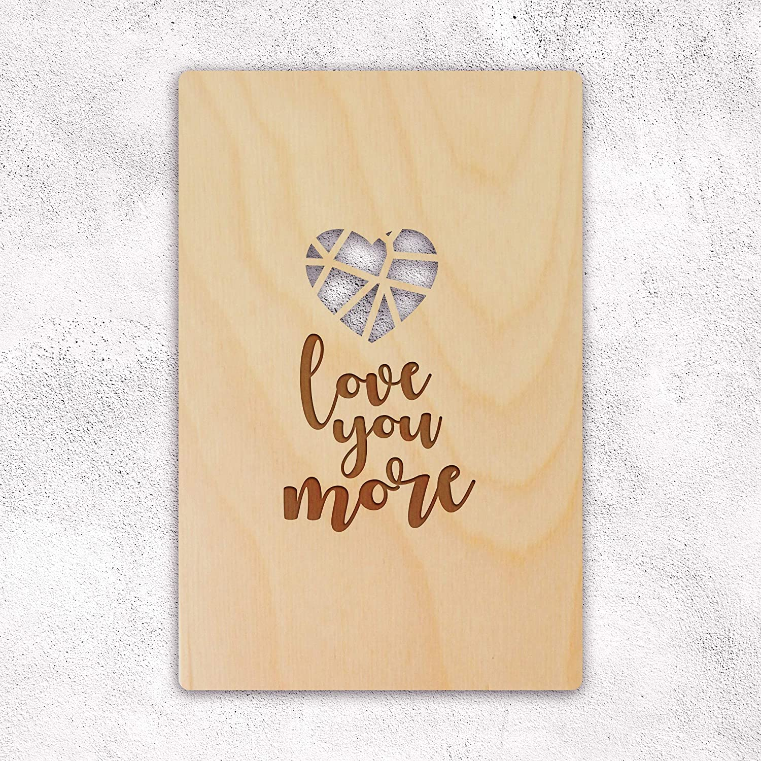 Amazon com: I love You Wooden greeting card, Funny Valentine