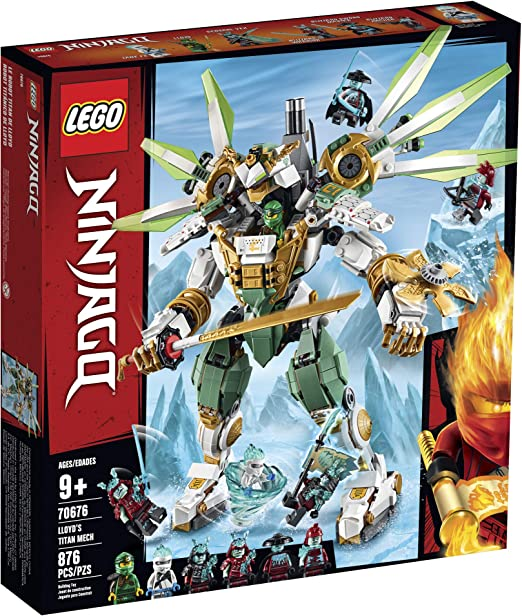 2020 New 70676 Ninjagoed Lloyd/'s Titan Mech Building Blocks Sets Robot Model Kit