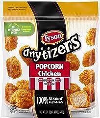 Tyson Any'tizers Popcorn Chicken, Frozen Appetizers, 24 oz