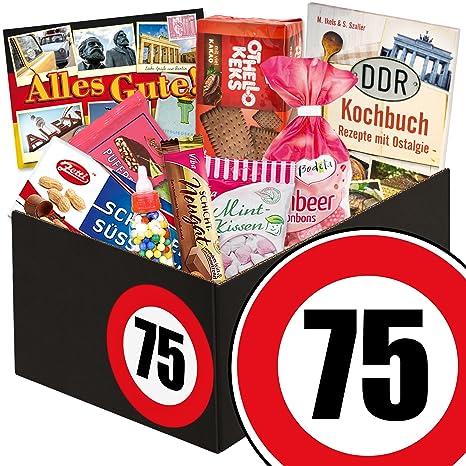 Geschenkidee 75 Geburtstag Sussigkeiten Box 75 Geburtstag