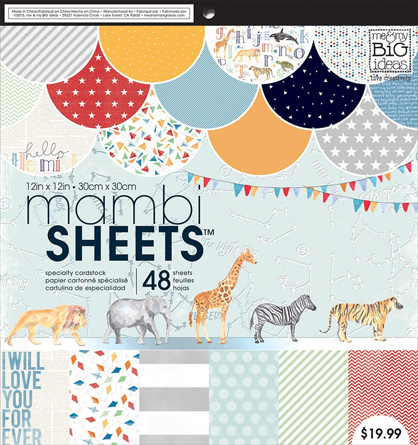 me & my BIG ideas Specialty Paper Pad, Cool Baby Boy, 12-Inch by 12-Inch by Me & My Big Ideas B01BVJ3SVQ