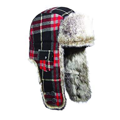 ae91a65a20c Amazon.com  Woolrich Wool Plaid Arctic Trapper Hat  Clothing