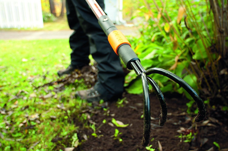 Fiskars Cultivador con 3 dientes, Longitud: 33 cm, Largo: 9 cm, Negro/Naranja, 1000685: Amazon.es: Jardín