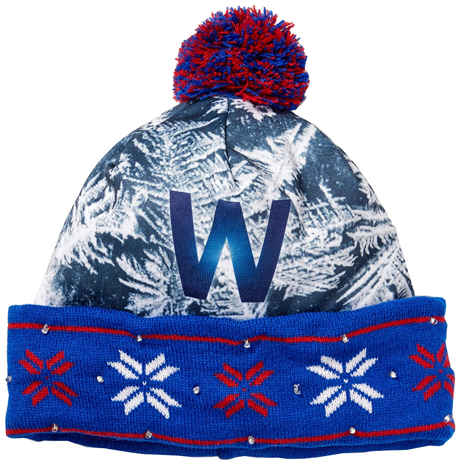 Amazon.com   Forever Collectibles MLB Chicago Cubs World Series W Light Up Knit  Hat   Sports   Outdoors 481c38e0541