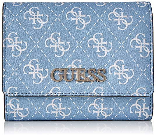 Guess - Maci Slg Small Trifold, Monederos Mujer, Gris (Sky ...