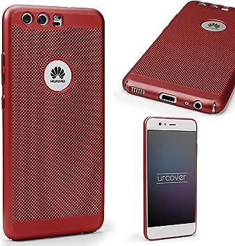 Urcover Funda Huawei P10 Carcasa Ultrafina Malla Rojo Case Móvil ...