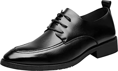 Santimon Mens Shoes Dress Oxfords Modern Classic Leather Lace up Casual Shoes by