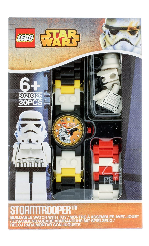 Lego Star Wars 8020325 Sturmtruppler Kinder Armbanduhr Mit Minifigur Boba Fett Kids Buildable Watch 8020448 Und Gliederarmband Zum Zusammenbauen Schwarz Wei Kunststoff Gehusedurchmesser