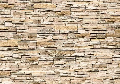 murando - Fototapete 350x256 cm – Vlies Tapete - Moderne Wanddeko - Design Tapete - Wandtapete - Wand Dekoration - Steinmauer