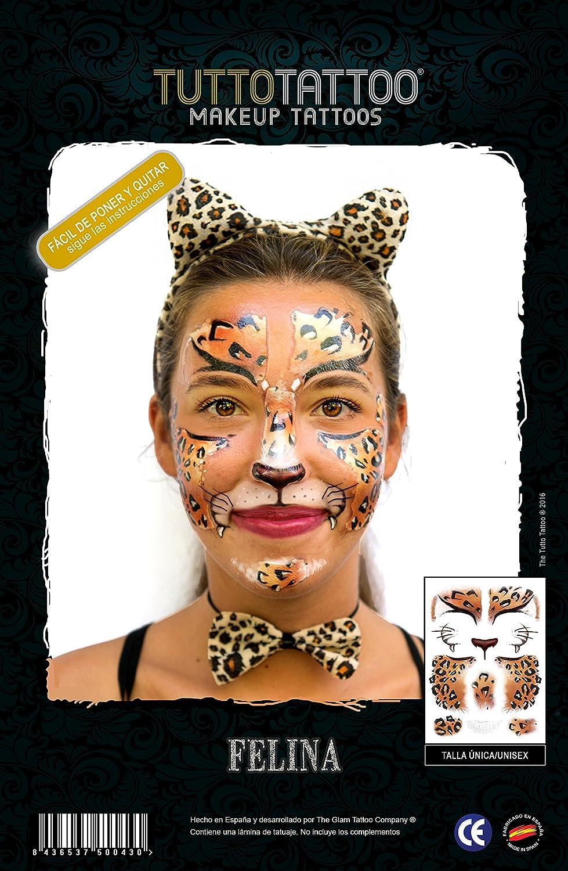TuttoTattoo- Tatuaje Máscara Temporal, Make Up Tattoo; Maquillaje ...