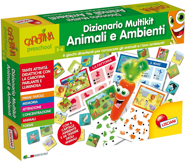 Lisciani Giochi 60931 - Carotina Penna Parlante Dizionario Multikit Primo  Inglese b2db597e4db7